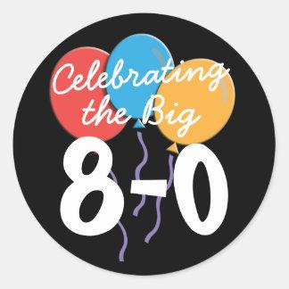 Celebrating the Big 80th Birthday Round Sticker
