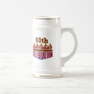 Celebration 60th Birthday Gifts Beer Stein