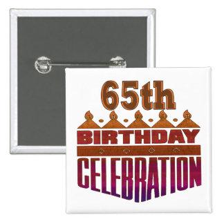 Celebration 65th Birthday Gifts Pins