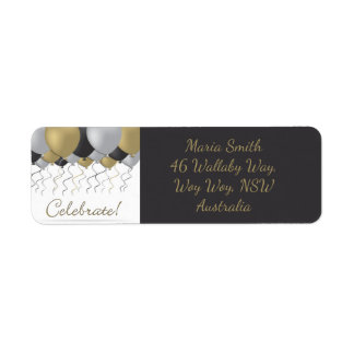 Celebration balloon return address label