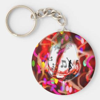 Celebration Basic Round Button Keychain