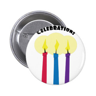 Celebration Candles 2 Inch Round Button