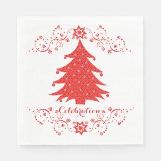 Celebration Christmas Tree Party Disposable Napkins