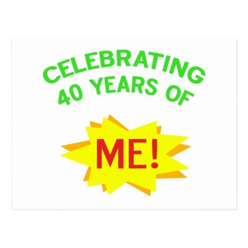 Célébration de 40 ans de moi cartes postales