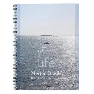 Célébration de livre d'invité de photo du paysage carnet