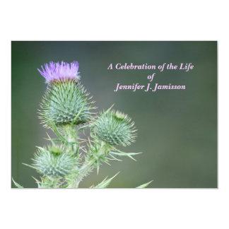 Célébration des fleurs sauvages de rose carton d'invitation  12,7 cm x 17,78 cm