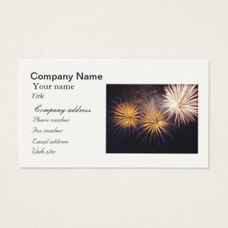Celebration firework business card
