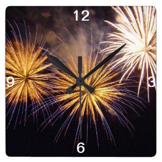 Celebration firework clocks