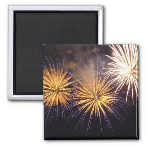 Celebration firework magnet