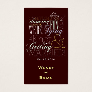 Celebration Fonts Business Card