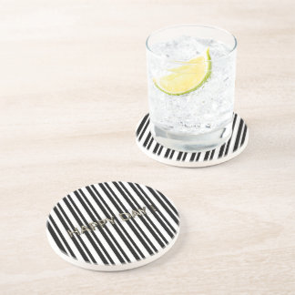 CELEBRATION-HAPPY-DAY_Black-Stripes_Gold_Favor's Coaster