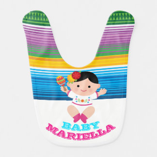 Celebration Mexican Baby Bib, Celebration 1st Bib