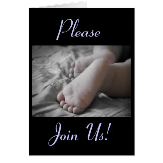 Celebration Of A Holy Baptism Baby Boy Feet II Greeting Card
