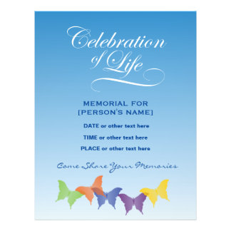 Celebration of life flyers for Free celebration of life program template