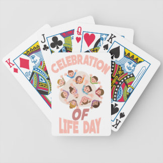 Celebration Of Life Day - Appreciation Day Bicycle Playing Cards