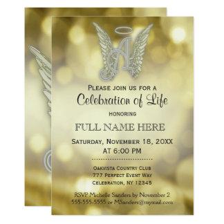 Celebration of Life - Gold Bokeh Card