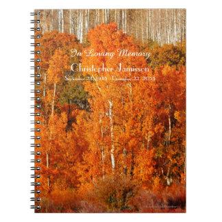 Celebration of Life Guest Book Autumn Fall Aspens Spiral Notebooks