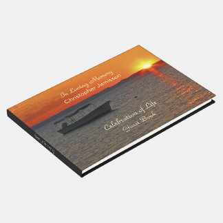 Celebration of Life Guest Book, Fishing Boat Guest Book