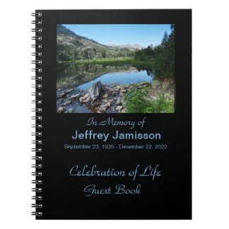 Celebration of Life Guest Book, Reflection in Lake Notebook