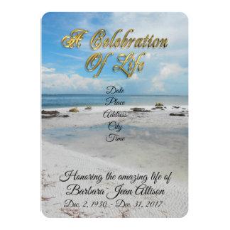 Celebration of Life invitation Beach