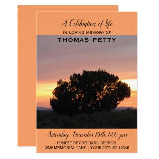 Celebration of Life Invitation Desert Sunset
