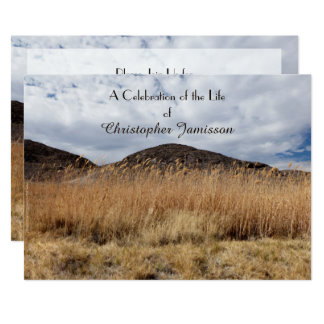 Celebration of Life Invitation Grain in the Breeze