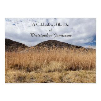 Celebration of Life Invitation Grain in the Breeze