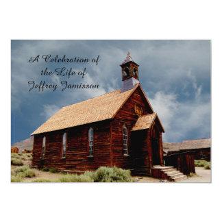 "Celebration of Life Invitation Old HistoricChurch 5"" X 7"" Invitation Card"