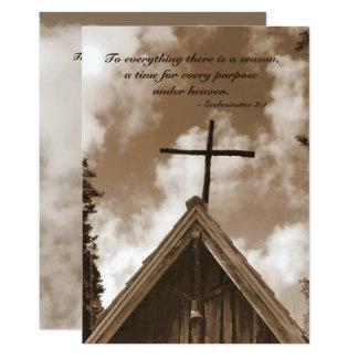 Celebration of Life Invitation, Scripture Quote Card