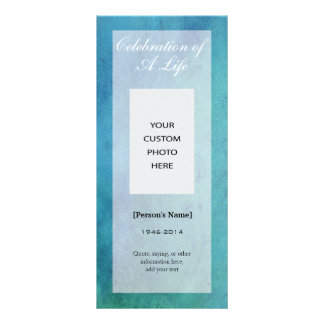 Celebration of Life Memorial Photo handout card Personalized Rack Card