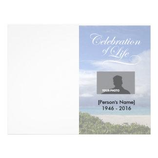 Celebration of Life Ocean Memorial Program Custom Flyer