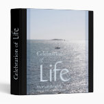 Celebration of Life Seascape 1 Memorial Guest Book Binders