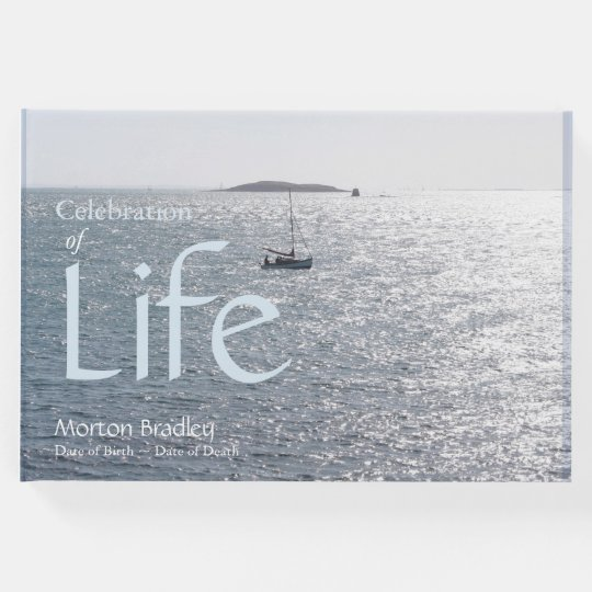 Celebration of Life Seascape 1 Photo Guest Book