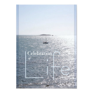 Celebration of Life Seascape 2 Invitation
