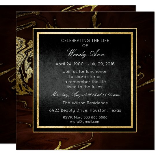 Celebration of Live Live Golden Burgunde Marble Card