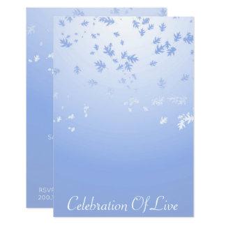 "Celebration of Live Vip Silver Blue 3.5"" X 5"" Invitation Card"