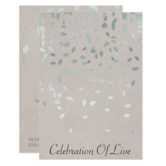 "Celebration of Live Vip Silver Pastel 3.5"" X 5"" Invitation Card"