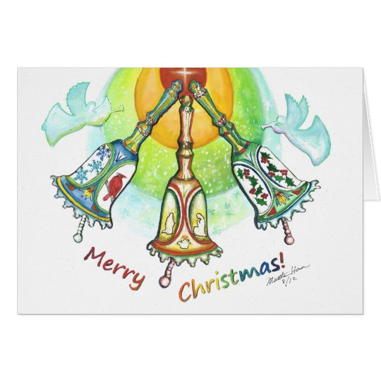 Celebration of winter, Cardinals, holly, snow Card