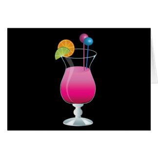 Celebration Pink Cocktail Card