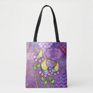 Celebration Positive Thought Doodle Flower Bag