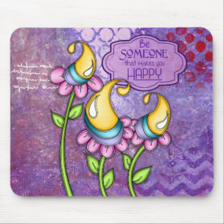 Celebration Positive Thought Doodle Flower Mousepa Mouse Pad