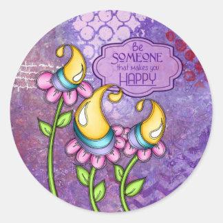 Celebration Positive Thought Doodle Flower Sticker