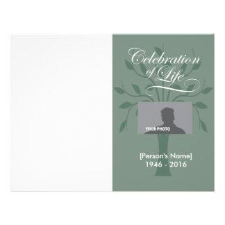 Celebration Tree of Life Memorial Program Full Color Flyer