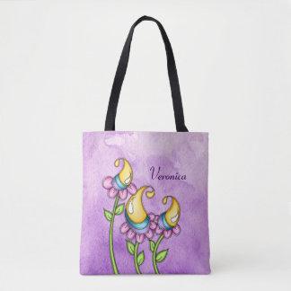 Celebration Watercolor Doodle Flower Bag