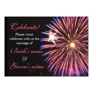 Celebration Wedding Pink Card