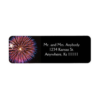 Celebration Wedding Pink Return Address Label