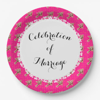 Celebration_Wedding-Silver-Roses-Pink(c) TEMPLATE Paper Plate
