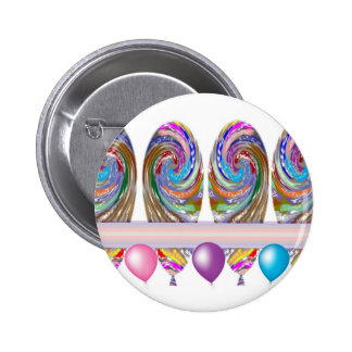 Celebrations -  Balloons 2 Inch Round Button
