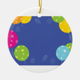 CELEBRATIONS BLUEPRINT Add your GREETINGS Round Ceramic Ornament