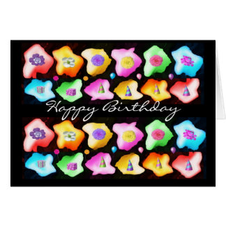 Celebrations: Floral Colorful Icebergs Greeting Card